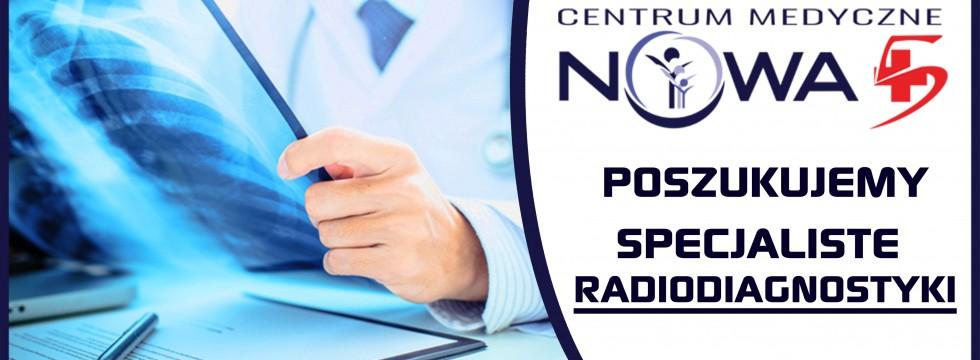Pilnie poszukiwany specjalista radiodiagnostyki celem wykonywania opisów badań obrazowych